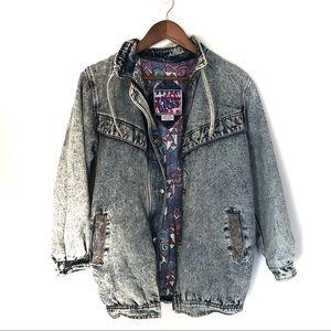 VINTAGE Faded Glory Acid Wash Jacket